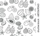 seamless hand drawn pattern... | Shutterstock . vector #685369063