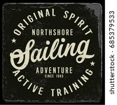 vintage nautical graphics and... | Shutterstock .eps vector #685379533