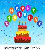 happy birthday  vector design...   Shutterstock .eps vector #685379797