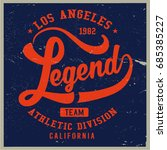 vintage varsity graphics and... | Shutterstock .eps vector #685385227