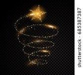 gold glittering spiral star... | Shutterstock .eps vector #685387387