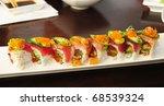 sushi rolls | Shutterstock . vector #68539324