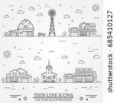 neighborhood with buildings... | Shutterstock .eps vector #685410127