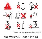 Candle Safety Sticker. Labelin...
