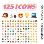 set of realistic cute icons on... | Shutterstock .eps vector #685420123