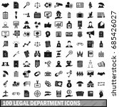 100 legal department icons set... | Shutterstock .eps vector #685426027