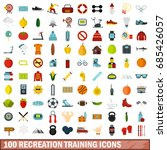 100 recreation training icons