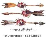 watercolor ethnic boho set of... | Shutterstock . vector #685428517