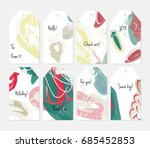 hand drawn creative tags.... | Shutterstock .eps vector #685452853