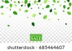 flying green summer leaves... | Shutterstock .eps vector #685464607