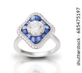 Small photo of Sapphire and Diamond Ring