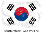 south korea flag grunge... | Shutterstock . vector #685490173