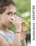 portrait of nice little girl... | Shutterstock . vector #68549788
