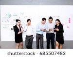 strong confidence business team ... | Shutterstock . vector #685507483
