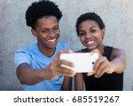 joyful laughing african... | Shutterstock . vector #685519267