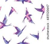 swallow  pattern  vector ...   Shutterstock .eps vector #685520647