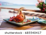 Fried Sea Crab Served With...