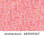vector cherry blossom background   Shutterstock .eps vector #685549267