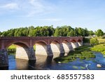 the river  venta at latvia...   Shutterstock . vector #685557583