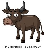 buffalo with sad face... | Shutterstock .eps vector #685559107