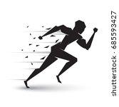 motion of running man | Shutterstock .eps vector #685593427