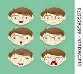 avatar with an expression.... | Shutterstock .eps vector #685605073