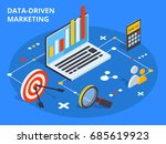 data driven marketing concept... | Shutterstock .eps vector #685619923