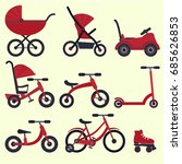 Flat Bright Red Baby Transport...