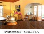 hotel service bell on reception ...   Shutterstock . vector #685636477