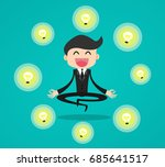 businessman thinking and... | Shutterstock .eps vector #685641517