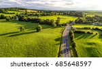 summer day over fields in... | Shutterstock . vector #685648597