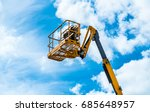 hydraulic lift platform with... | Shutterstock . vector #685648957