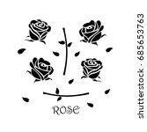 roses icon vector illustration. | Shutterstock .eps vector #685653763