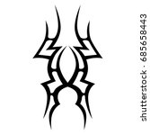 tattoo tribal vector design.... | Shutterstock .eps vector #685658443