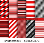 seamless geometric patterns... | Shutterstock .eps vector #685660873