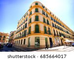 malaga   may 15  the pablo... | Shutterstock . vector #685664017