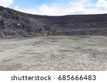 open pit mine for iron ore... | Shutterstock . vector #685666483