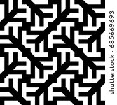 seamless pattern with black... | Shutterstock .eps vector #685669693