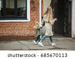 stylish and fashionable mother...   Shutterstock . vector #685670113