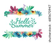 design banner with  happy... | Shutterstock . vector #685670947