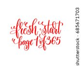 fresh start page 1 of 365   red ... | Shutterstock .eps vector #685671703