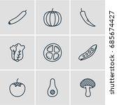 vector illustration of 9... | Shutterstock .eps vector #685674427