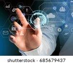 view of an international... | Shutterstock . vector #685679437