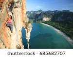 climbing in thailand  mountain... | Shutterstock . vector #685682707