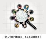 concepts for business planning... | Shutterstock .eps vector #685688557