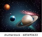 planet set realistic... | Shutterstock .eps vector #685690633