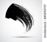curved brush stroke . vector... | Shutterstock .eps vector #685693747