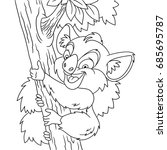 coloring page of cartoon koala... | Shutterstock .eps vector #685695787