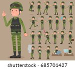 set of various poses of flat... | Shutterstock .eps vector #685701427