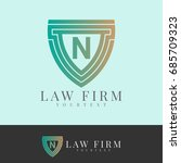 law firm initial letter n logo... | Shutterstock .eps vector #685709323